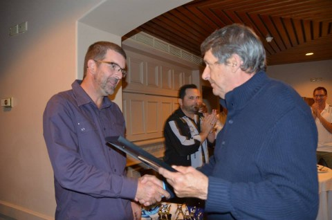 Jason Scroop receiving his Honorary Life Membership